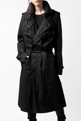 RUNDHOLZ DIP MILITARY TRENCH COAT (BLACK)