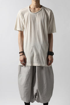画像をギャラリービューアに読み込む, RUNDHOLZ DIP DISTORTED NECK T-SHIRT / DYED L.JERSEY (MARBLE)