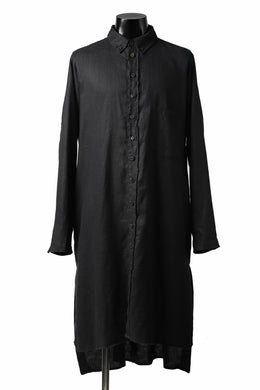 Aleksandr Manamis Long Box Pleat Shirt (BLACK)