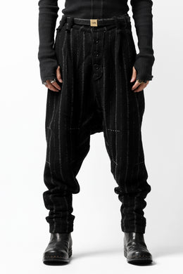 daska x LOOM exclucive lowcrotch trousers / bouclé stripe (SHADE)