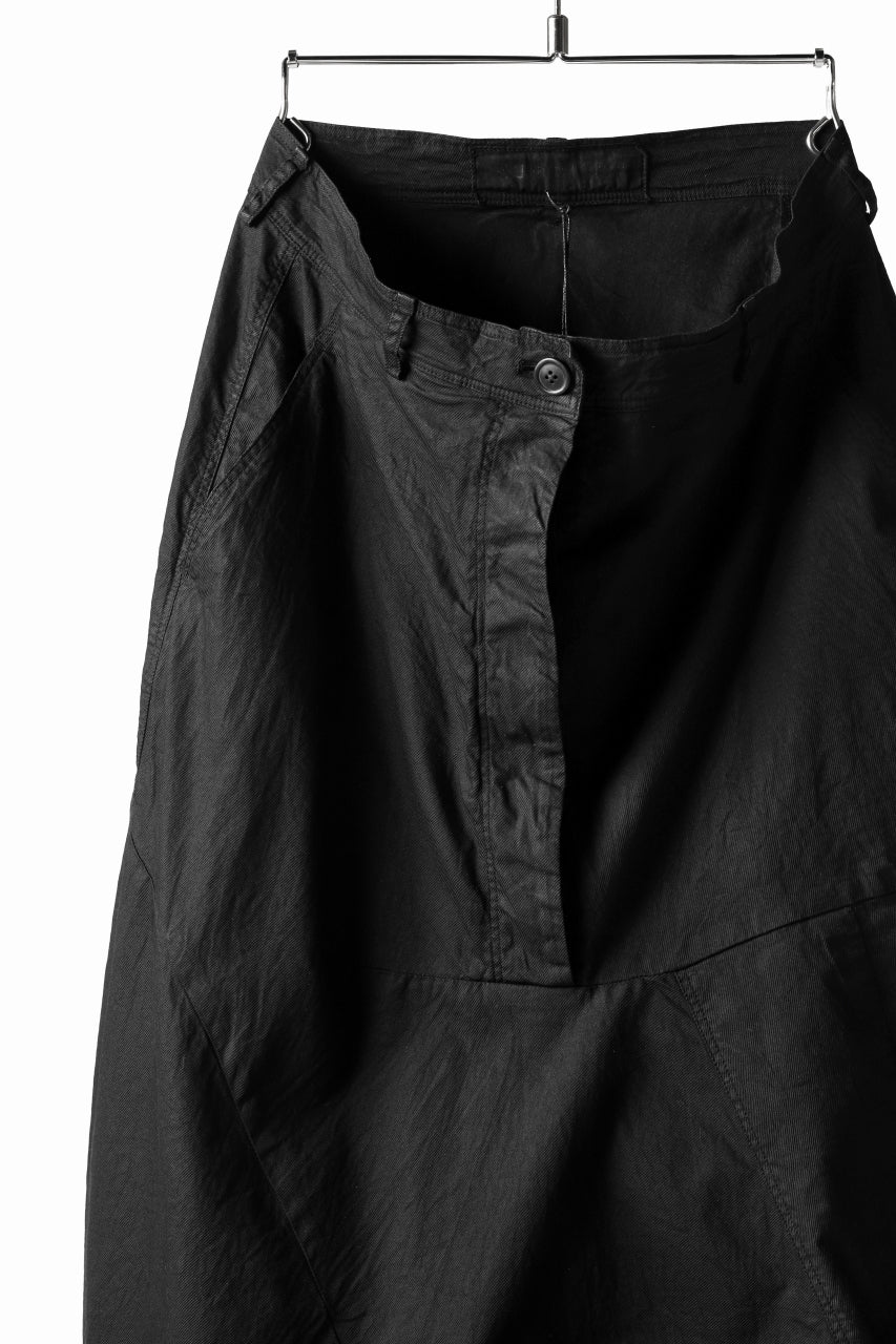 RUNDHOLZ DIP CONSTRUCTIVE LOWCROTCH TROUSER / DYED COTTON TWILL (BLACK)