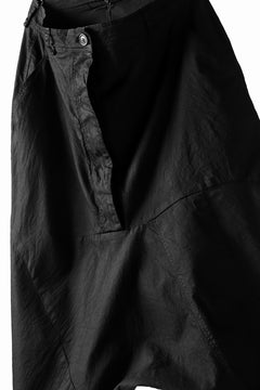 画像をギャラリービューアに読み込む, RUNDHOLZ DIP CONSTRUCTIVE LOWCROTCH TROUSER / DYED COTTON TWILL (BLACK)