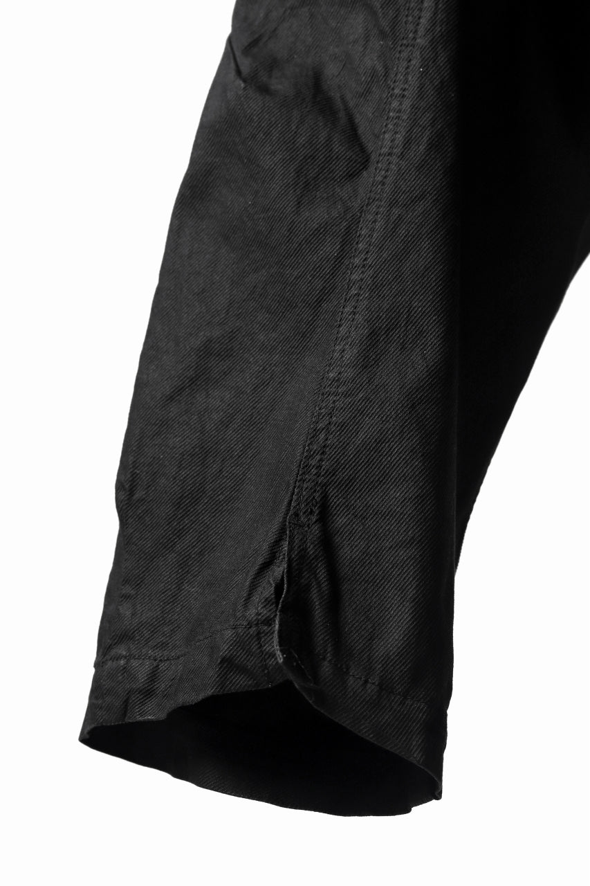 画像をギャラリービューアに読み込む, RUNDHOLZ DIP DROPCROTCH TAPERED PANTS / DYED COTTON TWILL (BLACK)