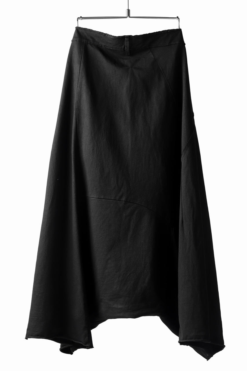RUNDHOLZ DIP CONSTRUCTIVE LOWCROTCH WIDE PANTS / DYED MEDIUM JERSEY (BLACK)