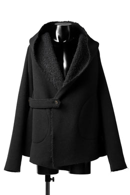 forme d'expression Hooded Cardigan Jacket (Black)