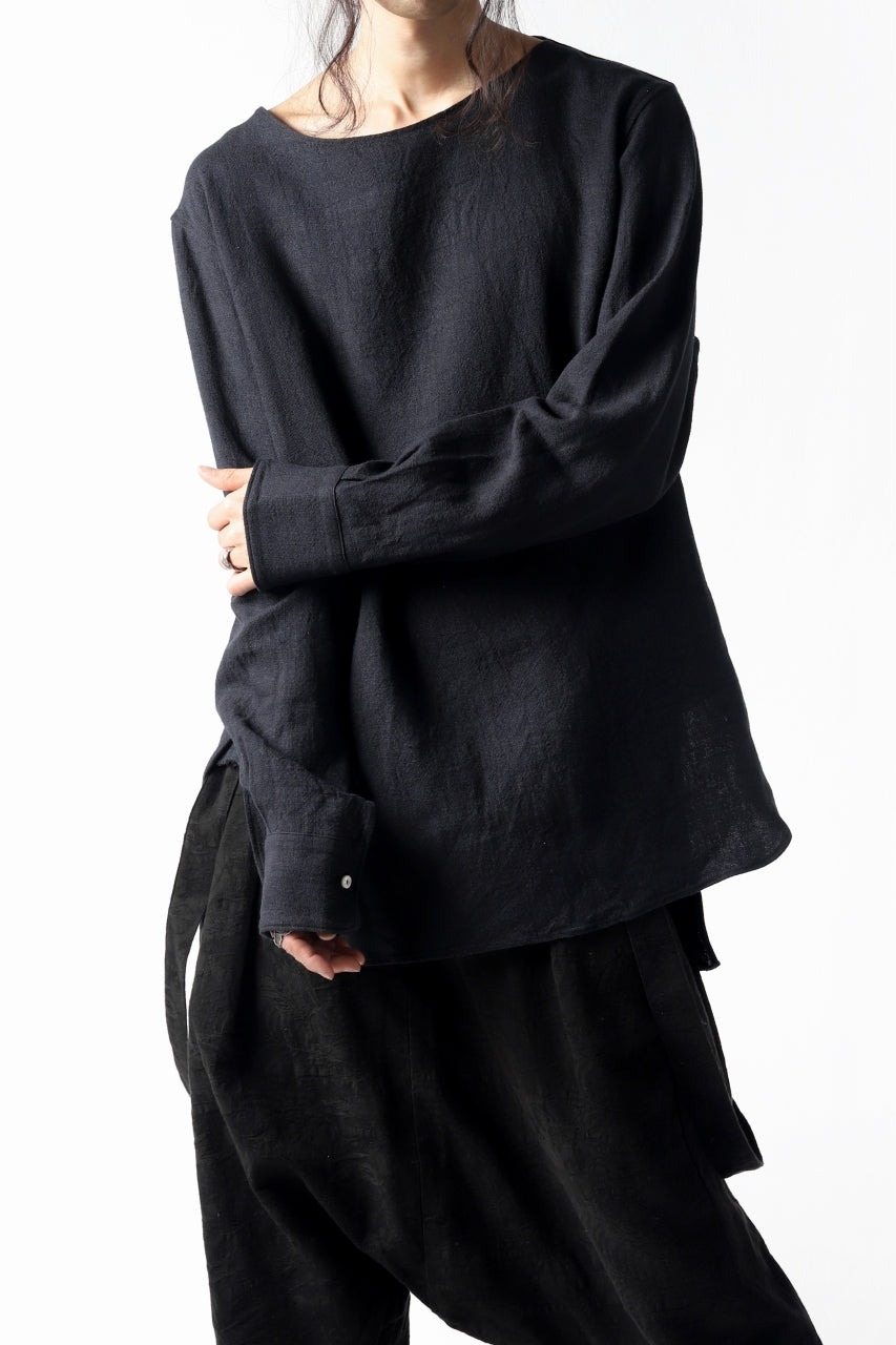 Load image into Gallery viewer, sus-sous shirt pullover / L100 plain (NAVY)