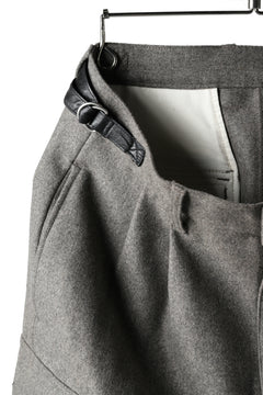 画像をギャラリービューアに読み込む, ISAMU KATAYAMA BACKLASH LOW CROTCH CARGO PANTS / CASHMERE WOOL MELTON (GREY)