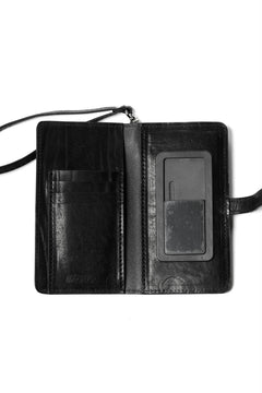 Load image into Gallery viewer, ISAMU KATAYAMA BACKLASH SMART PHONE CASE / PURSE LARGE / ITALY DOUBLE SHOULDER (BLACK)
