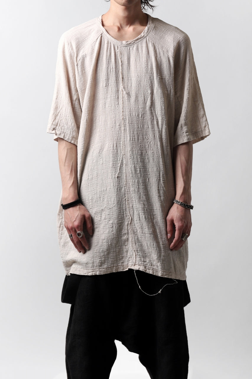 MAVRANYMA RAGLAN H/S TUNICA TOPS / ORGANIC RAW COTTON (DYED SAND)