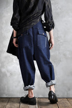 画像をギャラリービューアに読み込む, daska x LOOM exclucive wide tapered pants / organic denim washer (INDIGO)