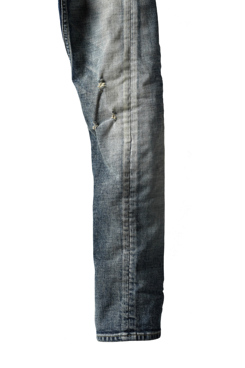 画像をギャラリービューアに読み込む, ISAMU KATAYAMA BACKLASH L/C SLIM DENIM PANTS / NATURAL USED FADE (INDIGO)