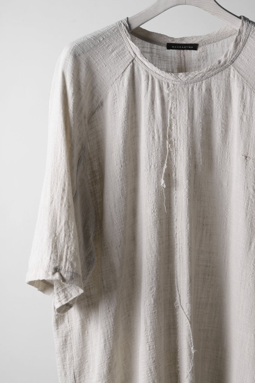 画像をギャラリービューアに読み込む, MAVRANYMA RAGLAN H/S TUNICA TOPS / ORGANIC RAW COTTON (DYED SAND)