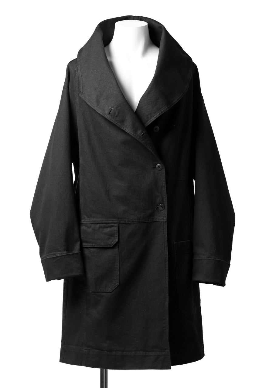Pxxx OFF by PAL OFFNER OVER SIZE DENIM COAT (BLACK)