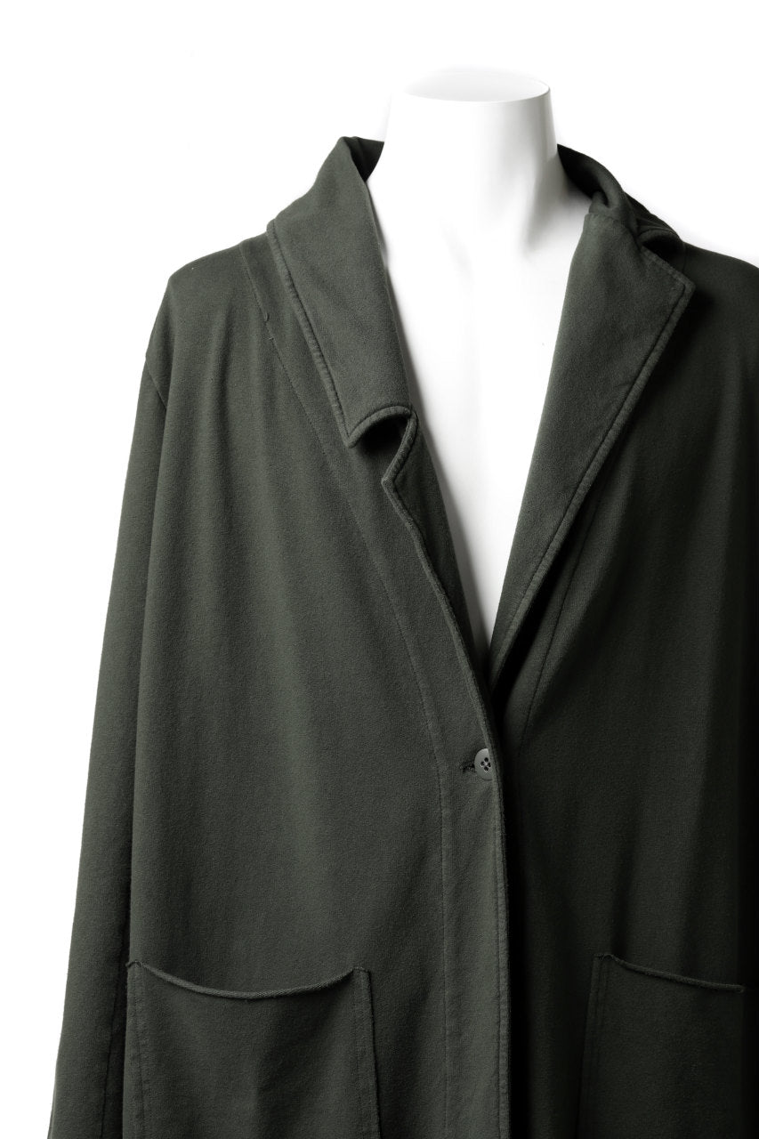 Load image into Gallery viewer, Pxxx OFF by PAL OFFNER LEGER COAT / STRETCH COTTON SWEAT (MOSS*KHAKI)
