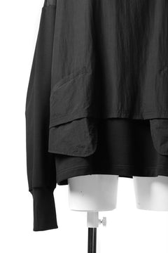 画像をギャラリービューアに読み込む, JOE CHIA DOUBLE LAYERED COMBINATION PULLOVER TOP (BLACK)