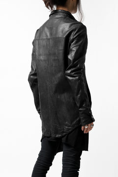 Load image into Gallery viewer, incarnation SHEEP LEATHER SHIRT JACKET / OBJECT DYED (BLACK)