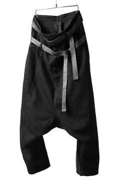 Load image into Gallery viewer, Pxxx OFF by PAL OFFNER EXTREME LOW TROUSERS with DOUBLE BELT (BLACK)