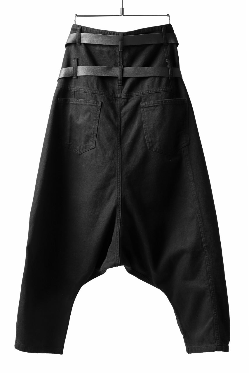 Pxxx OFF by PAL OFFNER EXTREME LOW TROUSERS with DOUBLE BELT (BLACK)