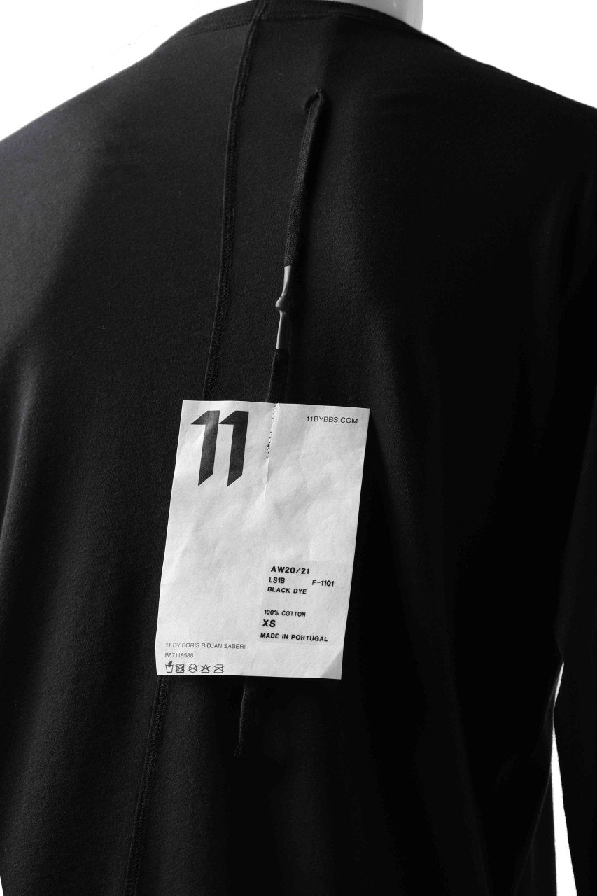 "画像をギャラリービューアに読み込む, 11 BY BORIS BIDJAN SABERI LONG SLEEVE ""LS1B-F-1101"" (BLACK DYE)"