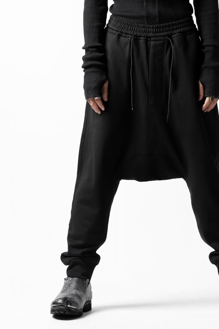 JOE CHIA DROPPED CROTCH SWEAT PANTS (BLACK)