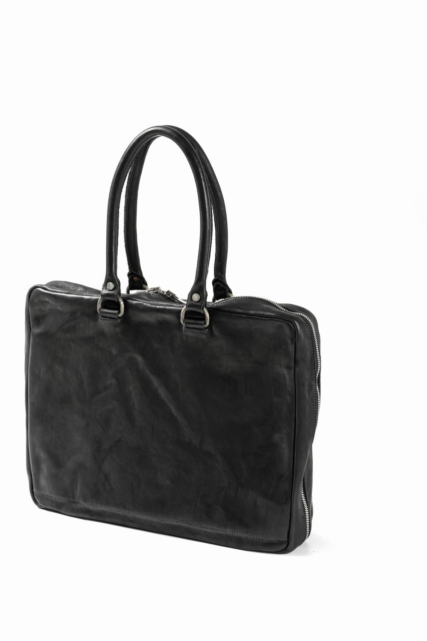 incarnation ZIP TOTE-BRIEF BAG / CALF SHOULDER (BLACK)