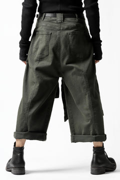 Load image into Gallery viewer, Pxxx OFF by PAL OFFNER WRAP TROUSERS / STRETCH DENIM (MOSS*KHAKI)