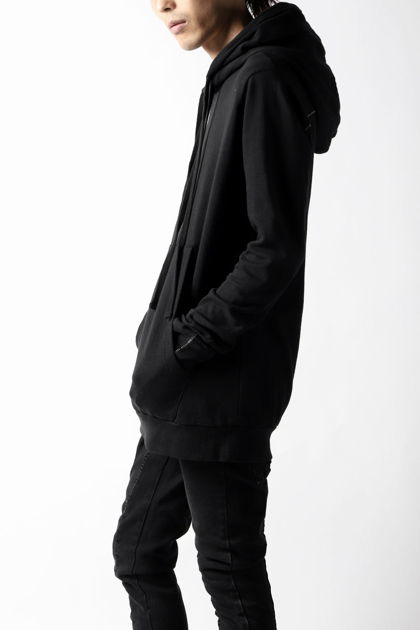 thomkrom DOUBLE HOODIE PULL OVER PARKA / OVER LOCKED (BLACK)