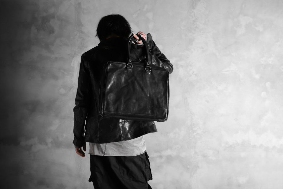 画像をギャラリービューアに読み込む, incarnation ZIP TOTE-BRIEF BAG / CALF SHOULDER (BLACK)