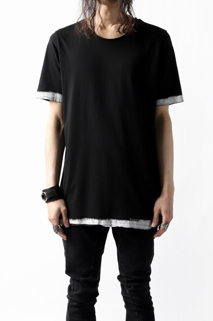 thomkrom BRUSH PAINT END T-SHIRT (BLACK)