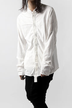 Load image into Gallery viewer, thomkrom NO COLLAR SHIRT/ JERSEY+WOVEN (OFF WHITE)