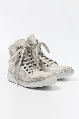 masnada HIGH TOP SNEAKER / PELLE DI VITELLO (DIRTY ICE WHITE)