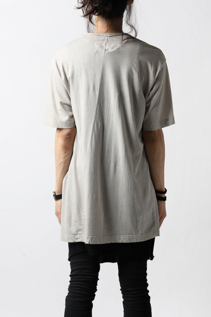 画像をギャラリービューアに読み込む, RUNDHOLZ DIP DISTORTED NECK T-SHIRT / DYED L.JERSEY (ZINC)
