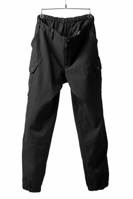 COLINA TACTICAL PANTS / WASHABLE WOOL GABA (BLACK)