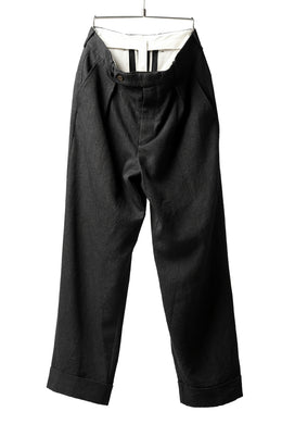 forme d'expression Tucked & Cuffed Trousers (Off Black)