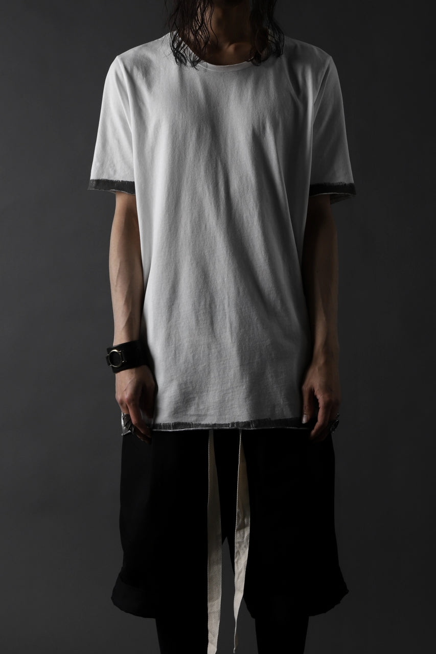 thomkrom BRUSH PAINT END T-SHIRT (OFF WHITE)