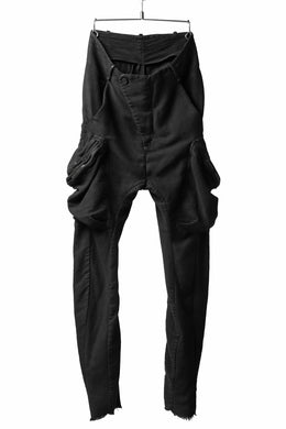 masnada MILITARY CARGO POCKET PANTS / SAIA COTONE ELASTICIZZATO (BLACK)