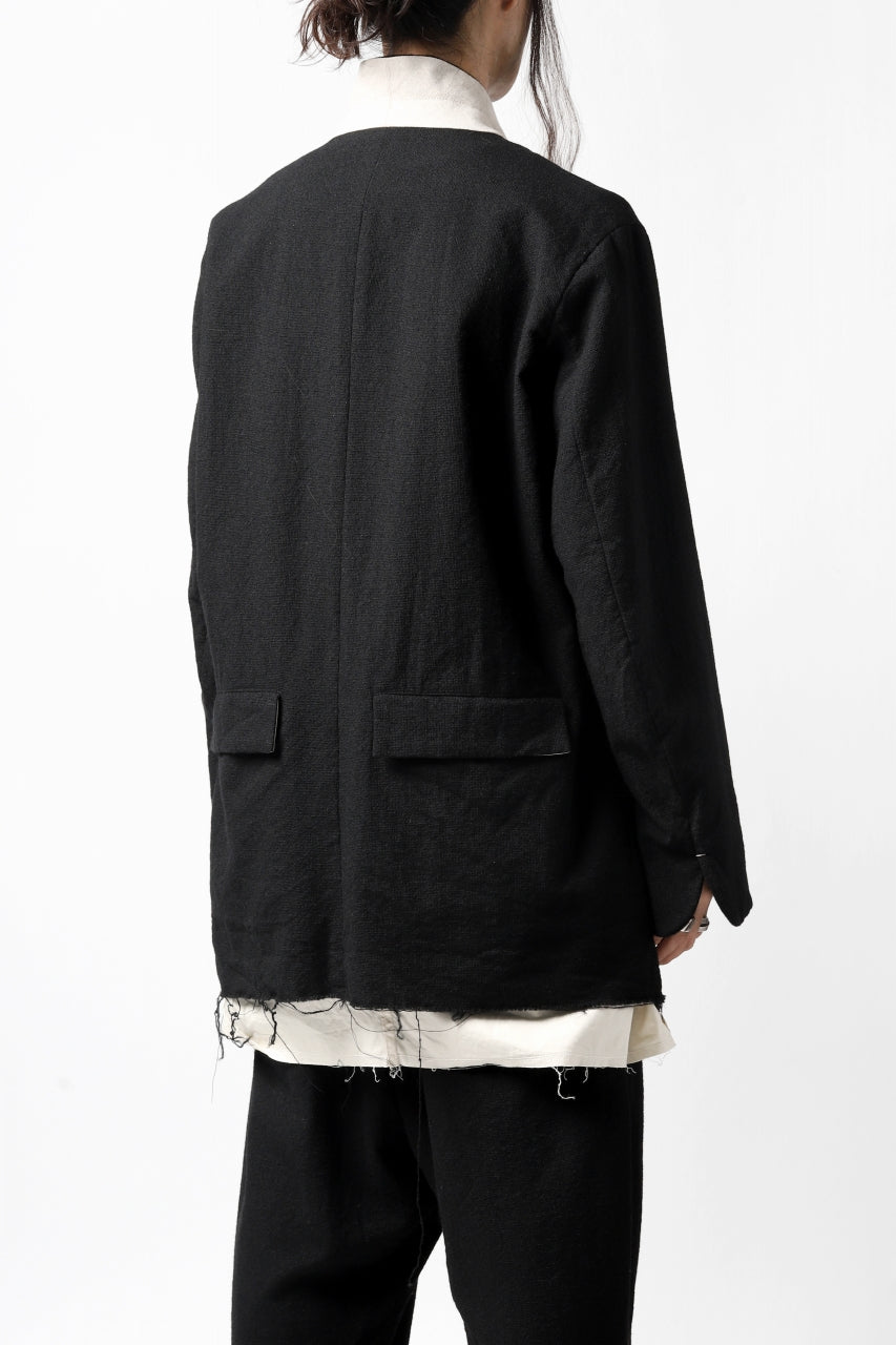 画像をギャラリービューアに読み込む, KLASICA BASTILLE PILGRIM BLAZER / OFF TWEED WOOL (BLACK)