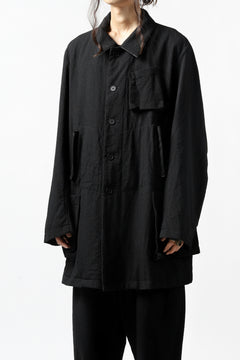 画像をギャラリービューアに読み込む, KLASICA KISTE-TWEED SHORT COAT / OFF TWEED WOOL (BLACK)