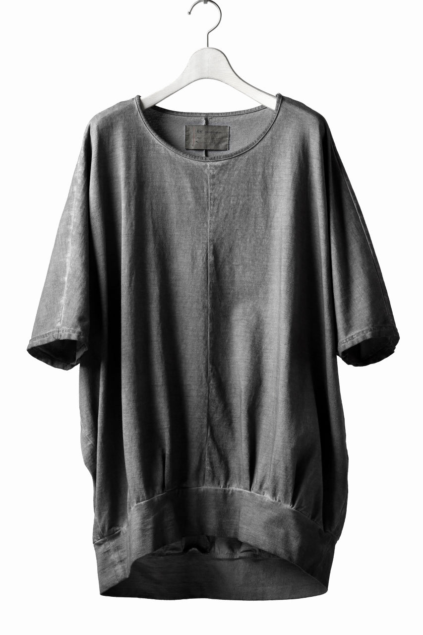 N/07 OVERFIT DOLMAN T-SHIRT / DYED JERSEY (INK BLACK)