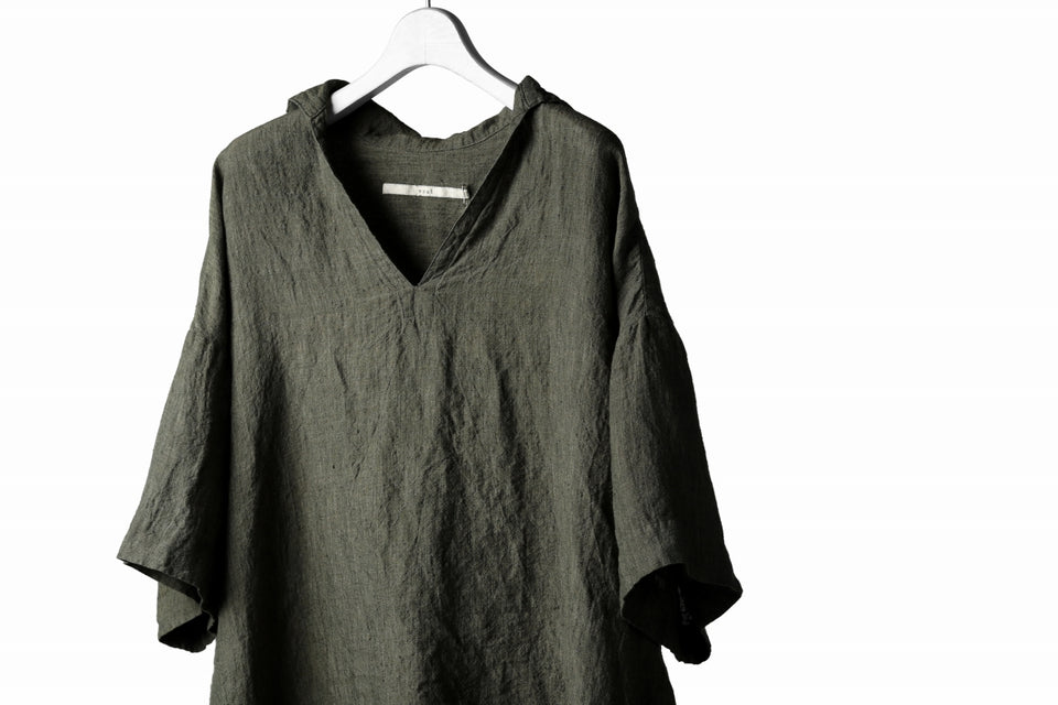 画像をギャラリービューアに読み込む, vital half collar tunica tops (organic linen exclusive)