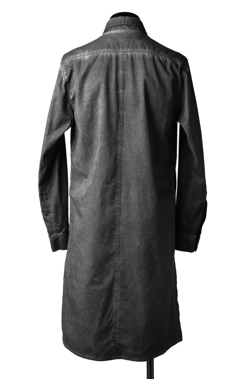 画像をギャラリービューアに読み込む, A.F ARTEFACT MILITARY LONG SHIRT / COLD DYED (GREY)