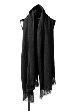 blackcrow stole wo/co/ny woven (MIX BLACK)