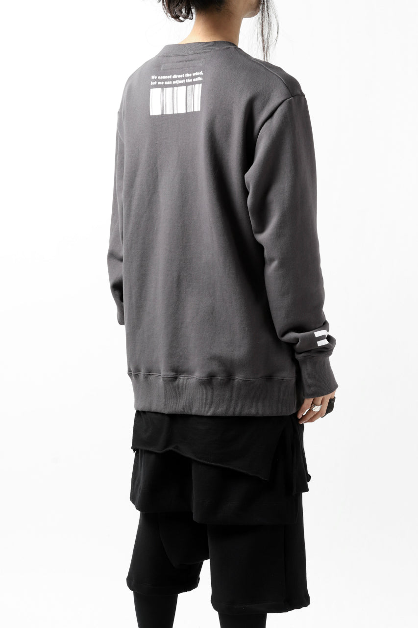 "A.F ARTEFACT ""NUMBERS"" SWEATER TOPS (GREY)"