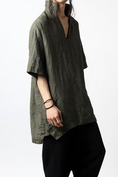 Load image into Gallery viewer, vital half collar tunica tops (organic linen exclusive)