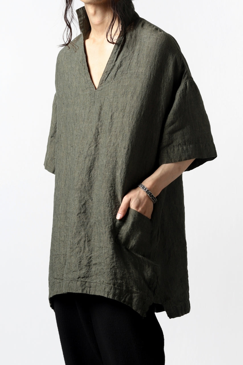 vital half collar tunica tops (organic linen exclusive)