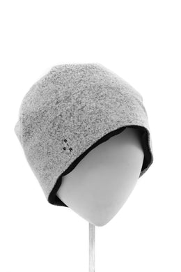 ierib REVERSIBLE BEANNIE CAP / COMPRESSED PILE KNIT (OREO)