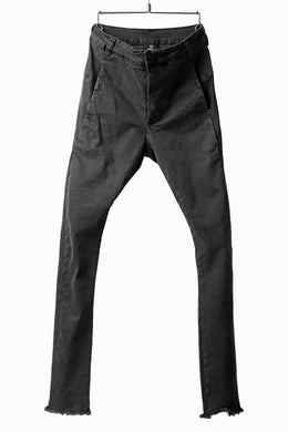 thomkrom OVER LOCKED SKINNY TROUSERS /  HYPER STRETCH DENIM (DARK GREY)