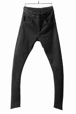 thomkrom OVER LOCKED SKINNY TROUSERS /  HYPER STRETCH DENIM (BLACK)