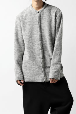 ierib MINIMAL SHIRT / COMPRESSED PILE KNIT (GREY)