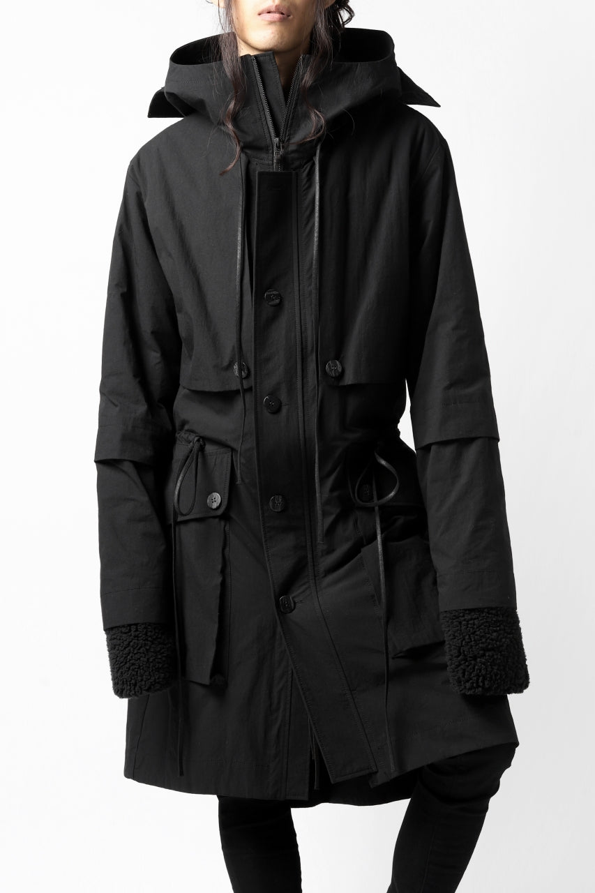 画像をギャラリービューアに読み込む, A.F ARTEFACT MILITARY COAT / WATER REPELLENT+BOA LINER (BLACK)